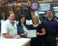 GRICE GUN SHOP MAKES CONTRIBUTION TO CRC
